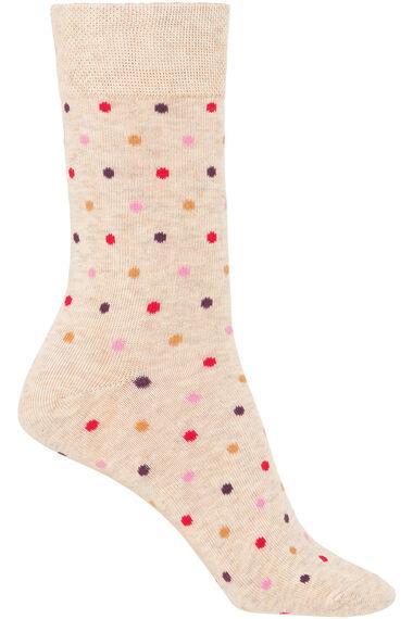 3 Pack Rose Printed Sock
