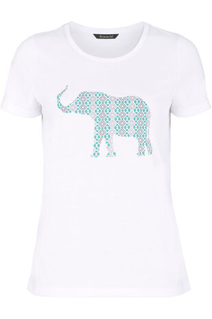 Indian Elephant Placement T-Shirt