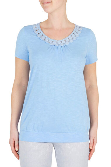 Applique Neckline T-Shirt