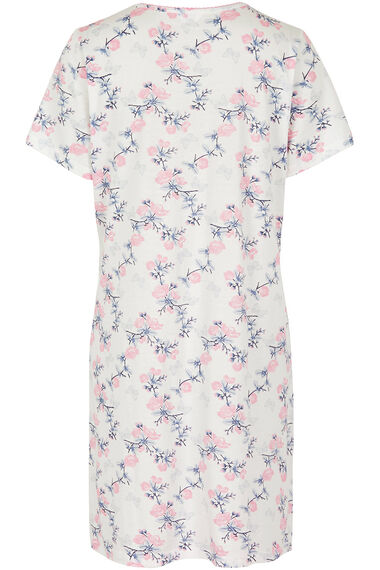 Grey Floral Butterfly Nightshirt
