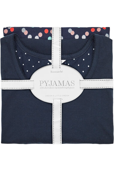 Spot Print Gift Wrapped Pyjama Set