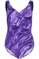 Purple Marble Print Swimsuit