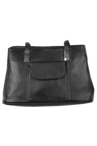 Metal Trims Leather Cross Body Bag