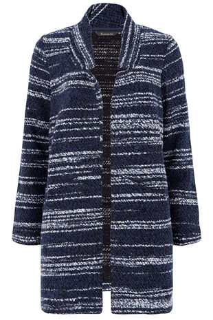 Striped Boucle Coatigan