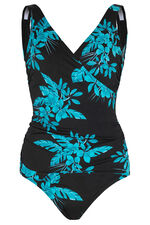 Blue Floral Leaf Swimsuit