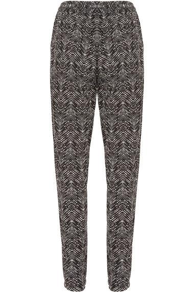 Aztec Print Linen Trousers