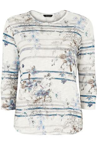 Floral Stripe T-Shirt