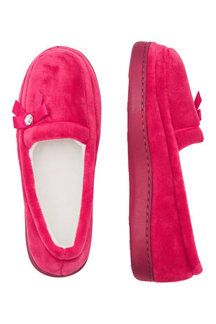 Diamante Velour Moccasin