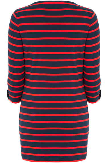 Navy Stripe Tunic with Scarf