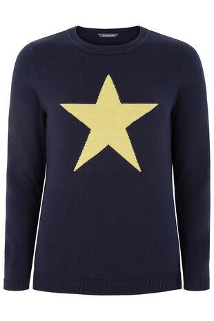 Star Intarsia Jumper