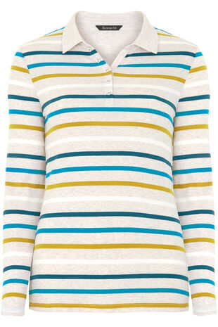 Multi Stripe Rugby T-Shirt