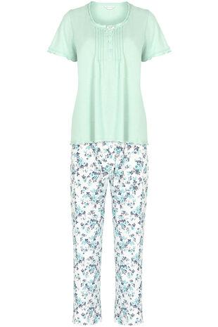 Aqua Floral Pjamas