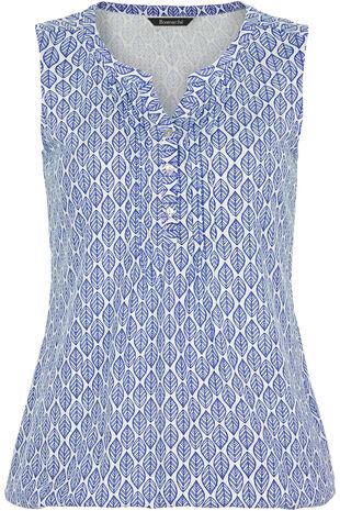 Leaf Print Vest