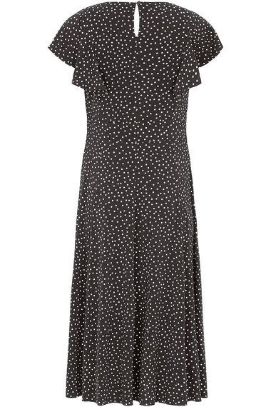 Frill Sleeve Spot Dress