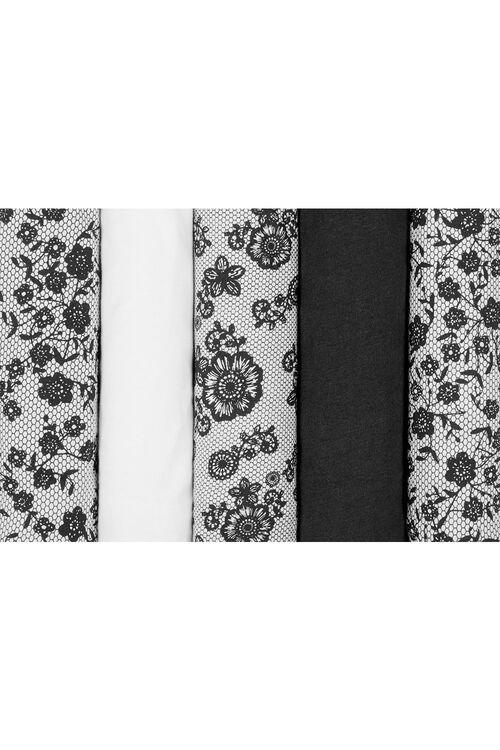 5 Pack Floral Lace Briefs