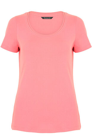 Pure Cotton Scoop Neck T-Shirt