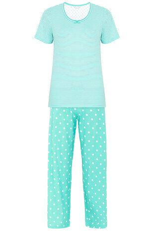 Gift Wrapped Spot and Stripe PJ Set