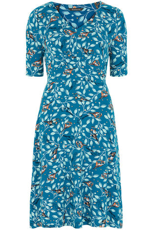 Bird Print Tea Dress