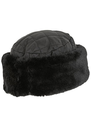 Quilted Fur Trim Hat