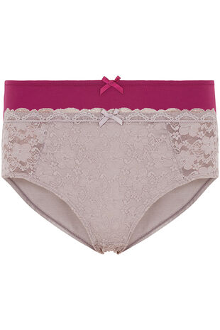 Dorina Two Pack Lace and Plain Briefs