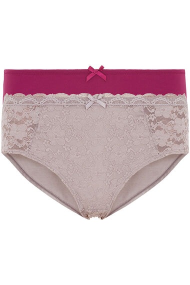 Dorina 2 Pack Lace and Plain Briefs