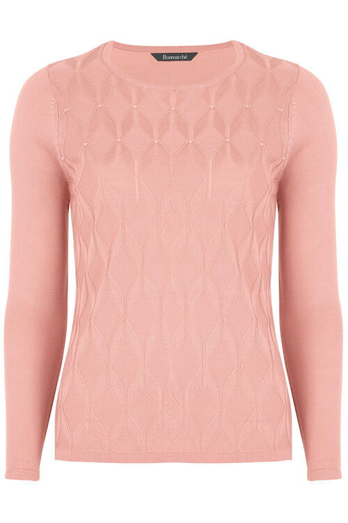 Diamond Scoop Neck Sweater