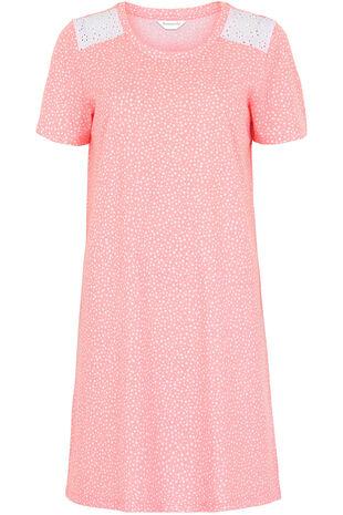 Random Spot Lace Nightshirt