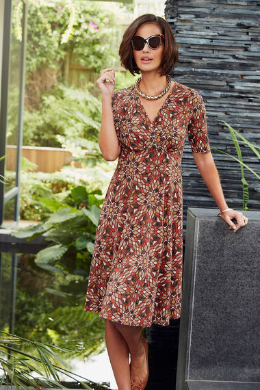 Ann Harvey Cinnabar Print Dress