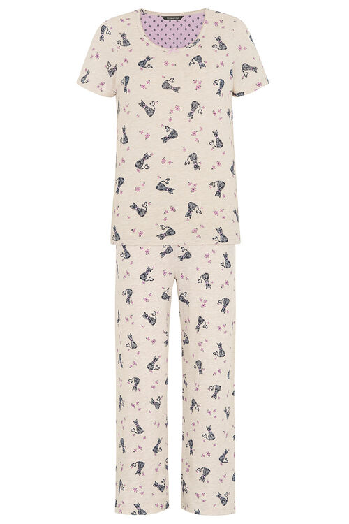 Gift Wrapped Cat Print PJ Set