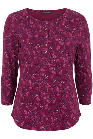 Cotton Floral Print T-Shirt