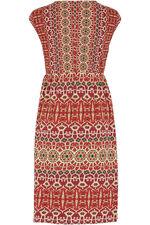Persian Print V-Neck Dress