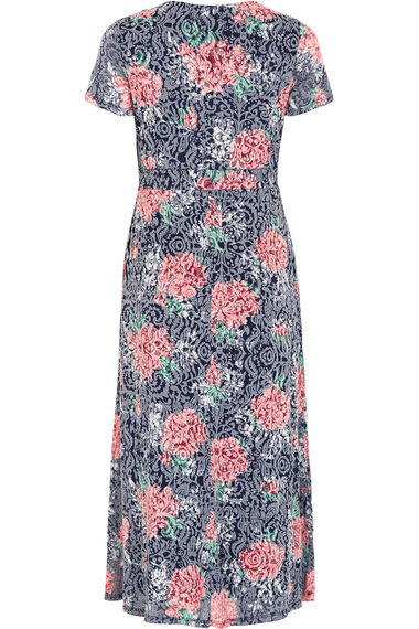 Short Sleeve Floral Burnout Dress