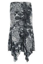 Printed Hanky Hem Skirt