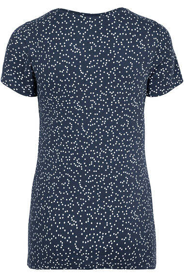 Short Sleeve V-Notch Neck Print T-Shirt