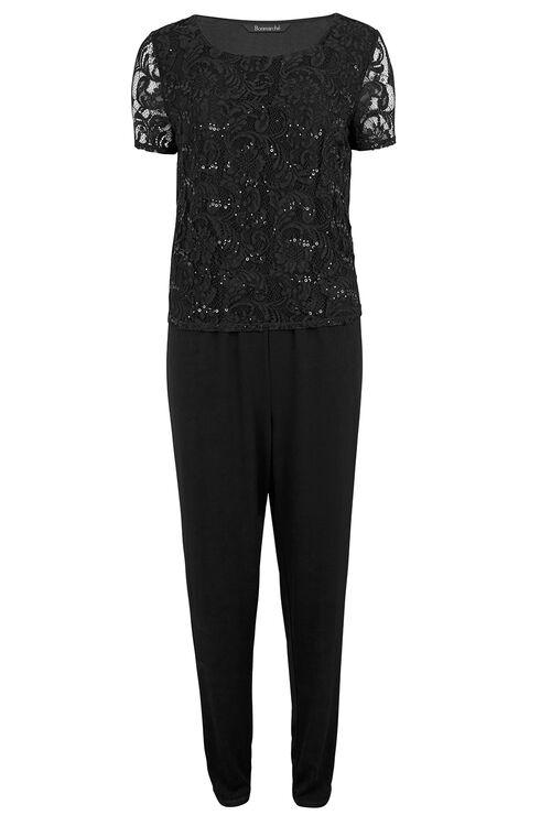 David Emanuel Signature Lace And Sequin Jumpsuit