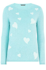 Heart Intarsia Knit Jumper