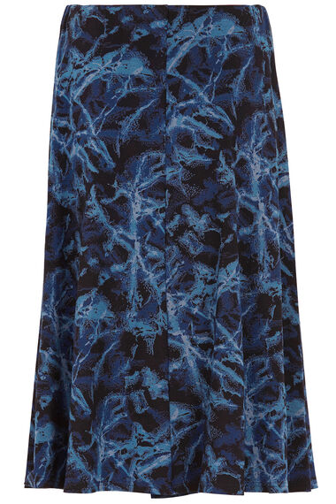 Printed Marble A Line Skirt