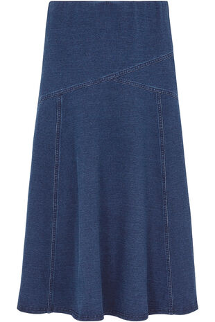 Jersey Denim Skirt