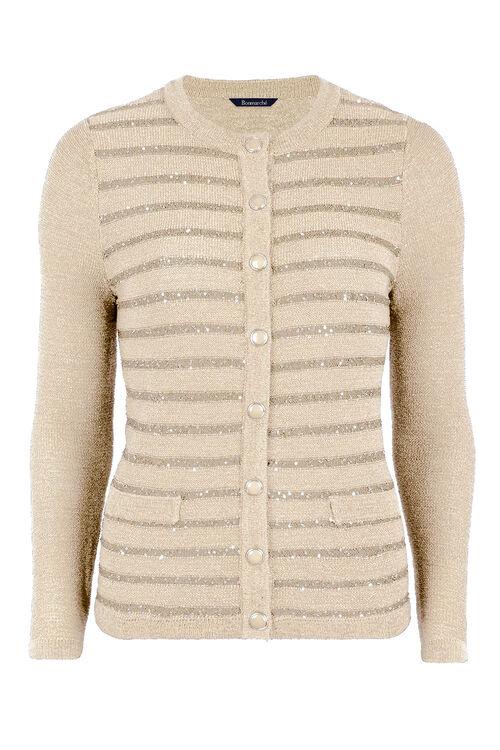 Sequin Stripe Cardigan