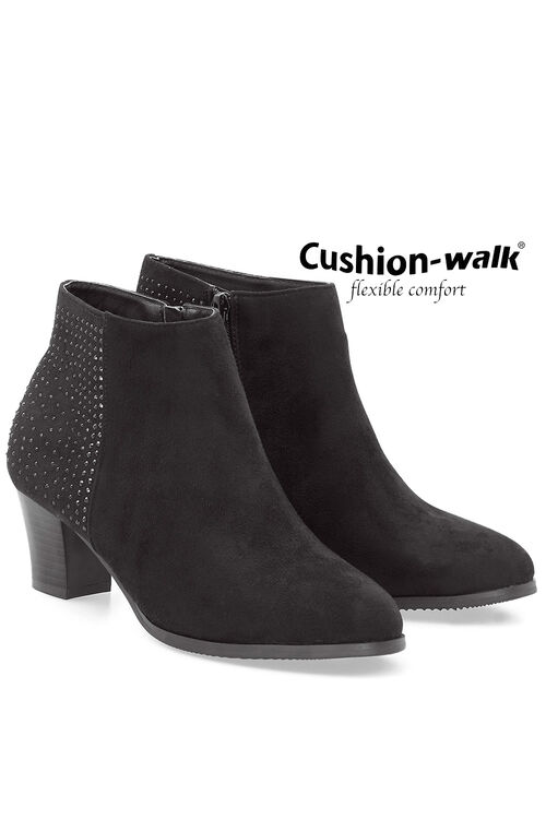Cushion Walk Smart Heeled Boot with Stud Detail