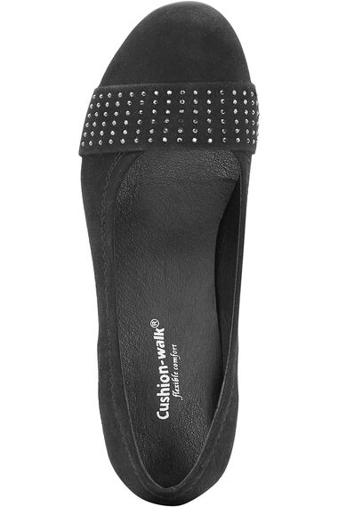 Cushion Walk Court Shoe with Stud Detail