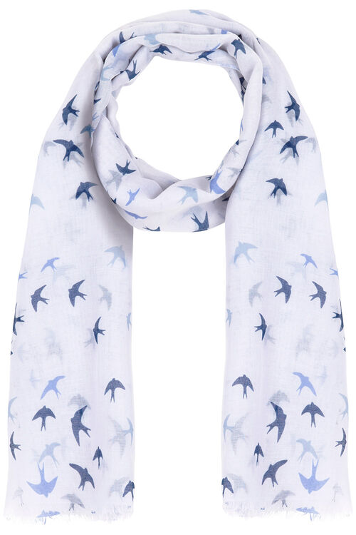 Swallow Print Scarf