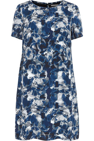 Ann Harvey Inky Floral Print Dress