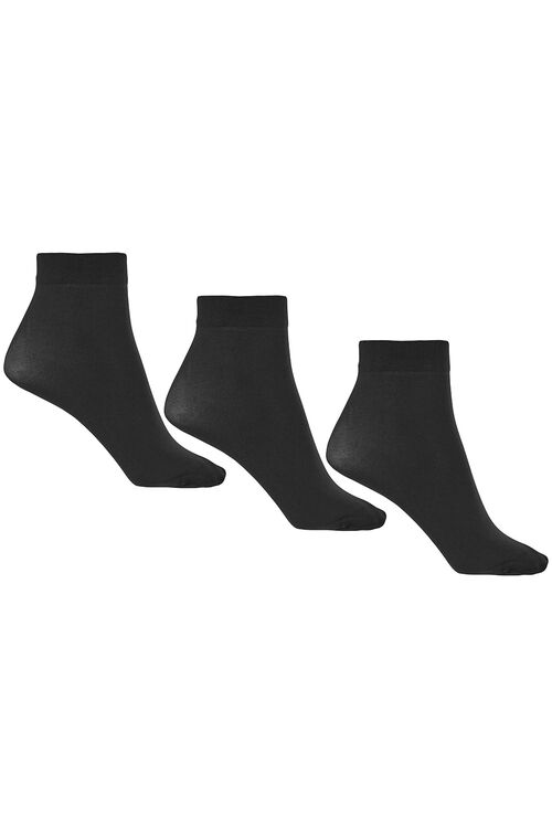 3 Pack 40 Denier Ankle Highs With Lycra