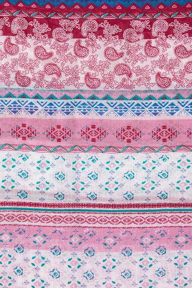 Ethnic Stripe Print Scarf