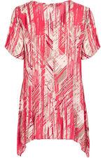 Ann Harvey Blurred Lines Print Top