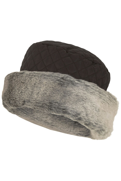 Fur Trim Quilted Hat