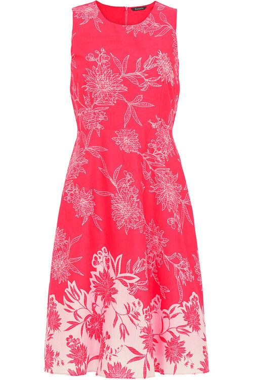 Cotton Border Print Dress