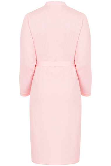 Quilted Zip Through Dressing Gown with Belt