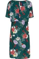 Floral Printed Flared Sleeve Dress